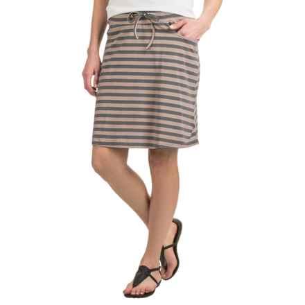 Toad&Co Tica Skirt - Organic Cotton-Modal (For Women) in Cocoa Stripe - Closeouts