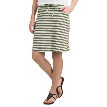 Toad&Co Tica Skirt - Organic Cotton-Modal (For Women) in Pistachio Stripe - Closeouts