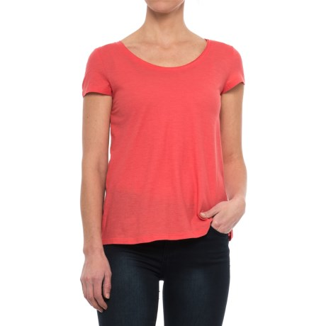 Toad&Co Tissue Cross-Back T-Shirt - Organic Cotton, Short Sleeve (For Women) in Spiced Coral
