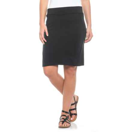 Toad&Co Transita Pencil Skirt - UPF 40+ (For Women) in Black - Closeouts