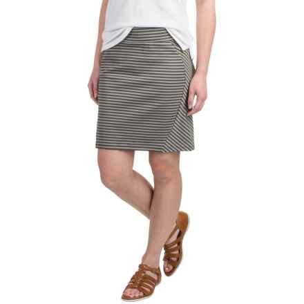 Toad&Co Transita Pencil Skirt - UPF 40+ (For Women) in Dark Moss Stripe - Closeouts
