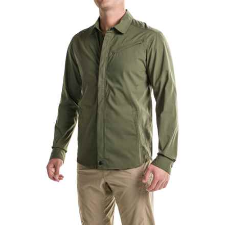Toad&Co Transverse Shirt Jacket - Organic Cotton Blend (For Men) in Dark Moss - Closeouts