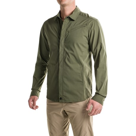 Toad&Co Transverse Shirt Jacket - Organic Cotton Blend (For Men) in Dark Moss