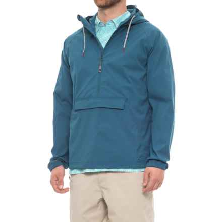 Toad&Co Trekker Anorak Jacket - UPF 40+, Zip Neck  (For Men) in Blue Abyss - Closeouts