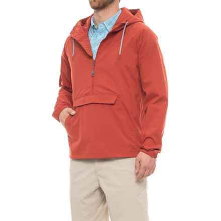 Toad&Co Trekker Anorak Jacket - UPF 40+, Zip Neck  (For Men) in Red Clay - Closeouts