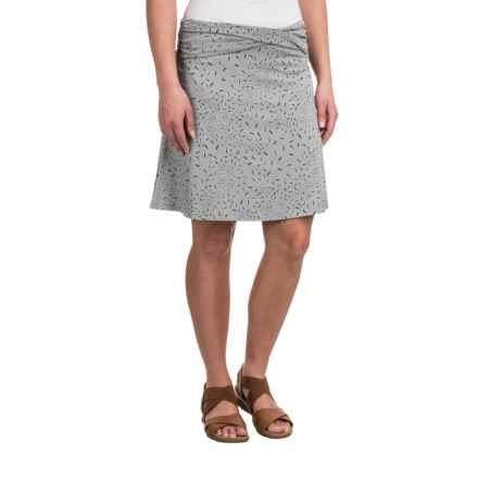 Toad&Co Twila Skirt - Organic Cotton-Modal (For Women) in Light Ash Leaf Print - Closeouts
