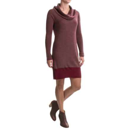 Toad&Co Uptown Crew Neck Sweater Dress - Merino Wool, Long Sleeve (For Women) in House Red - Closeouts