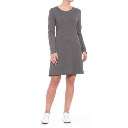 Toad&Co Windmere Dress - Long Sleeve (For Women) in Charcoal Heather - Closeouts