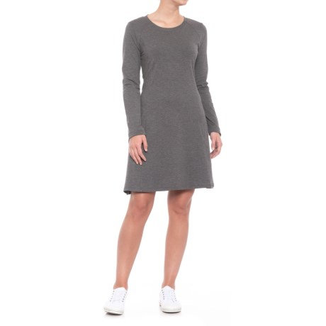 Toad&Co Windmere Dress - Long Sleeve (For Women) in Charcoal Heather