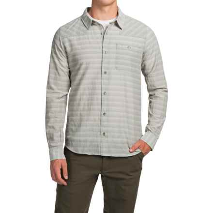 Toad&Co Wonderer Shirt - Organic Cotton, Long Sleeve (For Men) in Light Ash - Closeouts