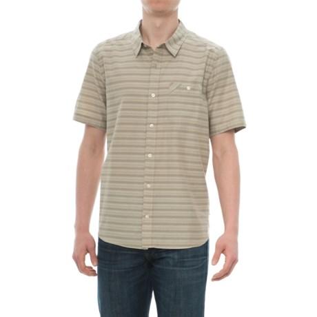 Toad&Co Wonderer Shirt - Short Sleeve (For Men) in Sawdust