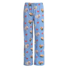 Toast and Jammies Cotton Jersey Drawstring Pants - Contemporary Cut (For Women) in Lucy Best Friends - Closeouts