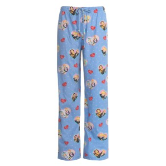 Toast and Jammies Cotton Jersey Drawstring Pants - Contemporary Cut (For Women) in Lucy Best Friends