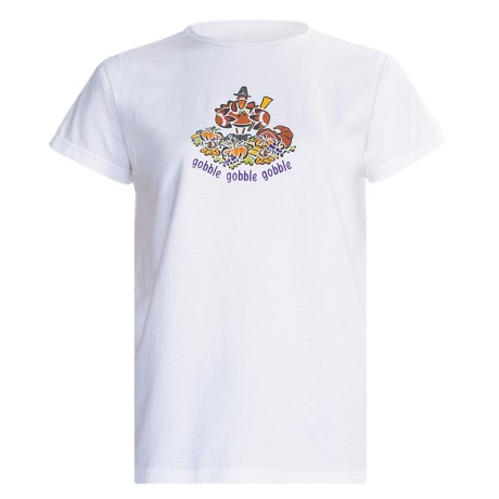Toast and Jammies Crew Neck T-Shirt - Short Sleeve (For Women) in Gobble