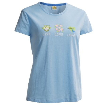 Toast and Jammies Printed Cotton Tee Shirt - Contemporary Cut, Short Sleeve (For Women) in Earth Print
