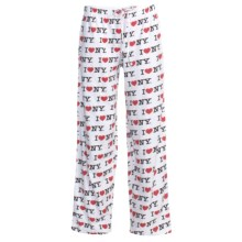 Toast and Jammies Printed Drawstring Pants - Jersey Knit Cotton, Missy Cut (For Women) in I Love New York - Closeouts