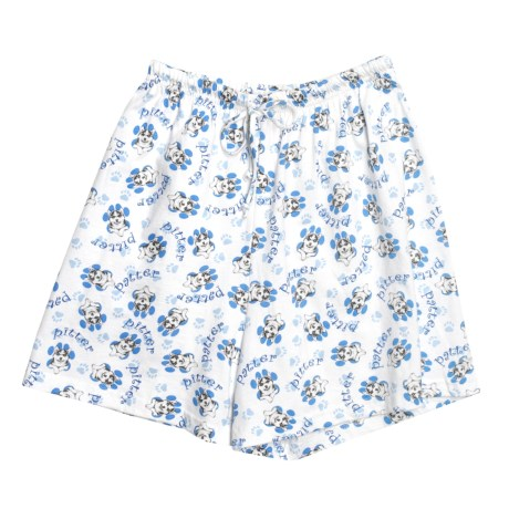 Toast and Jammies Printed Lounge Shorts - Cotton, Missy Cut (For Women) in Husky Paws