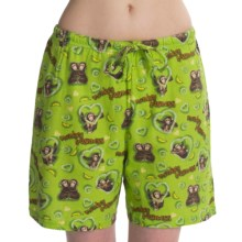 Toast and Jammies Printed Lounge Shorts - Cotton, Missy Cut (For Women) in Monkey Business - Closeouts