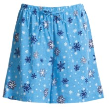 Toast and Jammies Printed Lounge Shorts - Cotton, Missy Cut (For Women) in Snowflake - Closeouts
