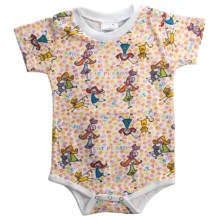 Toast & Jammies Printed Romper - Cotton (For Infants and Toddlers) in Cat Person - Closeouts