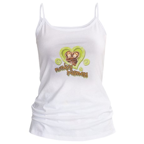 Toast and Jammies Screen-Printed Tank Top - Cotton, Missy Cut (For Women) in Walk The Dog