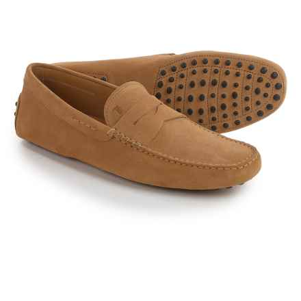 Tod's Gommino Moc-Toe Driving Shoes - Suede, Slip-Ons (For Men) in Tan - Closeouts