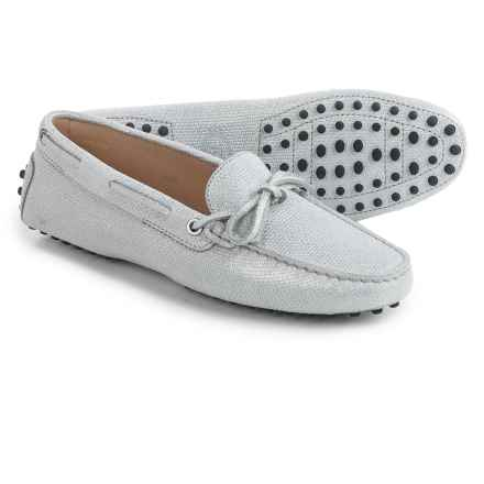 Tod's Heaven Slip-On Moccasins - Leather (For Women) in Silver - Closeouts