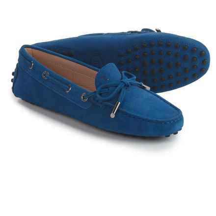 Tod's Heaven Slip-On Moccasins - Suede (For Women) in Blue - Closeouts