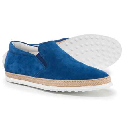 Tod's Made in Italy Casual Sneakers - Suede (For Men) in Aquarium - Closeouts