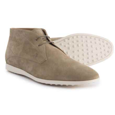 Tod's Made in Italy Chukka Boots - Suede (For Men) in Rope - Closeouts