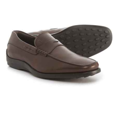Tod's Made in Italy Quinn Moccasins - Leather (For Men) in Dark Brown - Closeouts