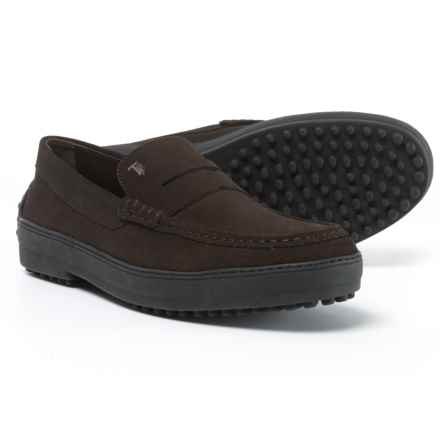 Tod's Made in Italy Winter Gommini Driving Moccasins - Suede (For Men) in Dark Brown - Closeouts