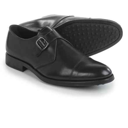 Tod's Oxford Buckle Shoes - Leather (For Men) in Black - Closeouts