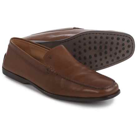 Tod's Pantofola Driving Moccasins - Leather (For Men) in Brown - Closeouts