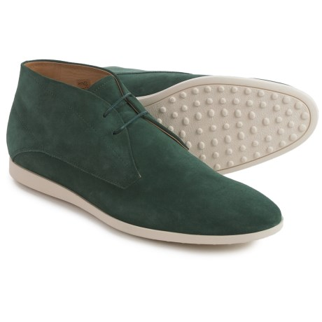 Tod's Suede Chukka Boots (For Men) in Green