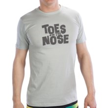 Toes on the Nose Stacked T-Shirt - Short Sleeve (For Men) in Hazy Grey - Closeouts