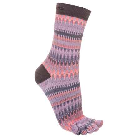 ToeSox Casual Full Toe Socks - Crew (For Women) in Siren - Closeouts
