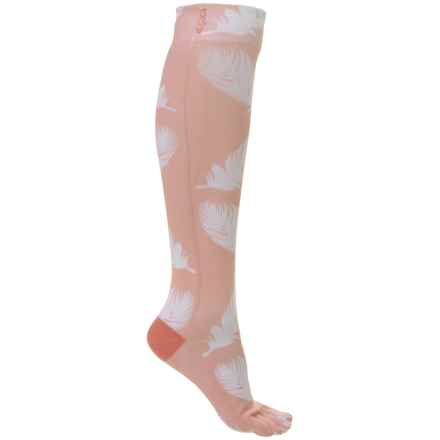 ToeSox Casual Full Toe Socks -  Over the Calf (For Women) in Trance - Closeouts