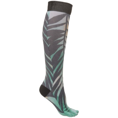 ToeSox Casual Full Toe Socks -  Over the Calf (For Women) in Tropic