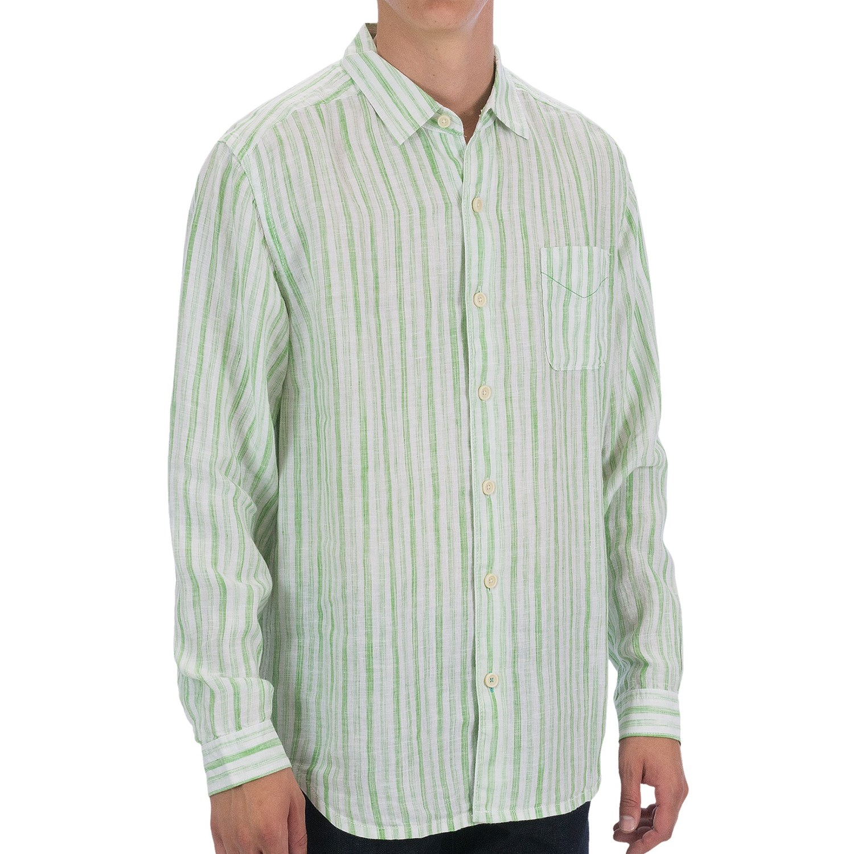 Tommy bahama academy shirt linen long sleeve for men for Tommy bahama long sleeve dress shirts
