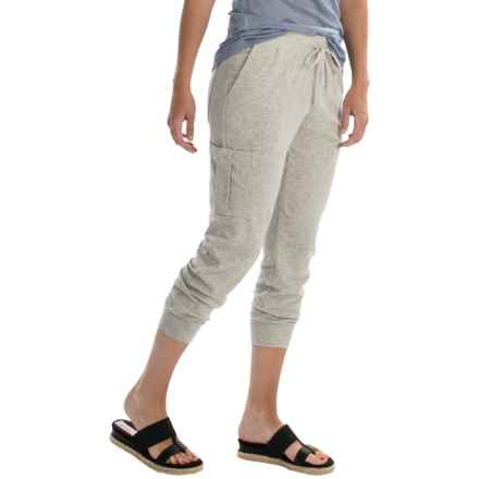 Tommy Bahama Aldwyn Cargo Crop Pants (For Women) in Fossil Grey Heather - Overstock