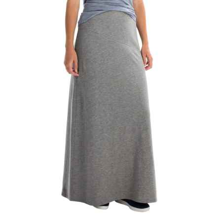 Tommy Bahama Aldwyn Seamed Maxi Skirt - Stretch Cotton-Modal (For Women) in Gunmetal Heather - Overstock