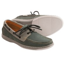 Tommy Bahama Arlington Boat Shoes - Leather (For Men) in Cool Grey Nubuck - Closeouts