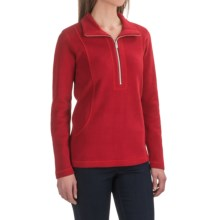 Tommy Bahama Aruba Stretch Cotton Sweatshirt - Zip Neck (For Women) in Cerise - Closeouts