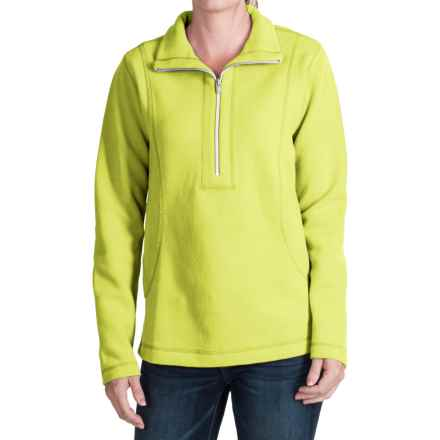 Tommy Bahama Aruba Stretch Cotton Sweatshirt - Zip Neck (For Women) in Spring Bud - Closeouts