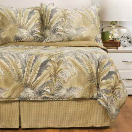 Tommy Bahama Bahamian Breeze Comforter Set - Queen, 4-Piece in Blue/Green/Grey - Closeouts