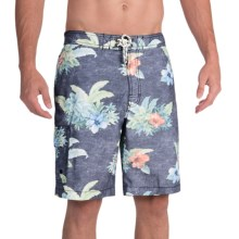 Tommy Bahama Baja Hibiscus Hukilau Swim Trunks (For Men) in Black - Closeouts