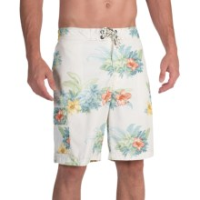 Tommy Bahama Baja Hibiscus Hukilau Swim Trunks (For Men) in Bleached Sand - Closeouts