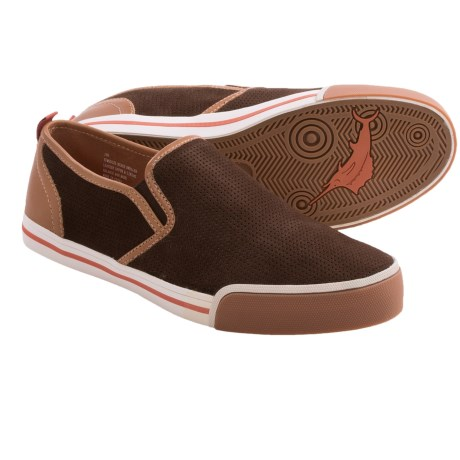 Tommy Bahama Beach Dweller Shoes - Canvas, Slip-Ons (For Men) in Dark Brown