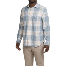 Tommy Bahama Beach Front Flannel Shirt - Long Sleeve (For Men and Big Men) in Chambray - Closeouts